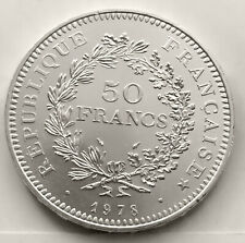 FRANCE 50 FRANCS 1978 ( HERCULES GROUP ) SILVER Coin (KM# 941) XF+