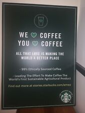 More details for starbucks we love coffee in store magnetic back strip foam board sign