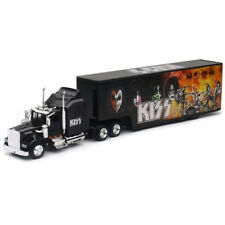 New Ray 1/43 Kenworth W900 Kiss Rock Band Graphics Truck Trailer Black SS-15473