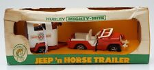 Hubley Mighty Mite Jeep N Horse Trailer w/2 Horses 70s NIB