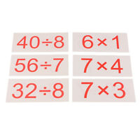 Children Math Flash Cards for Developing Math Skills Multiplication Division