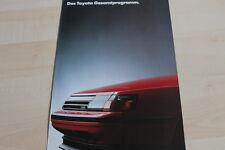 120099) Toyota Starlet - Corolla - Celica - Carina Prospekt 04/1986