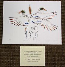 Ojibwa Artist EDDY COBINESS MALLARD DUCK 60/400 Ltd Lithograph Art Signed VV51G