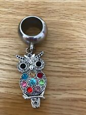 Owl Scarf Ring With Colourful Stones