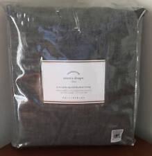Pottery Barn Emery Linen Poletop Drape Curtain ~ 50 x 96 ~ Charcoal Gray
