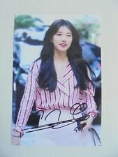 Suzy Bae Miss A 4x6 Photo Korean Actress KPOP autograph signed USA Seller SALE 1