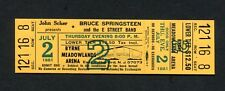 1981 Bruce Springsteen unused concert ticket The River Meadowlands Point Blank