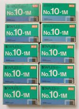 1000 Count Box of Max No 10-1M Staples x 10 boxes