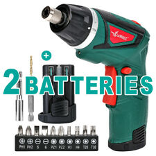 7.2V Cordless Electric Screwdriver Rechargeable w/2 Pack Battery Drill Driver