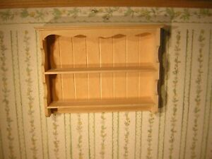 1/12th Dollshouse Miniature Barewood Shelf Unit / Dresser Top