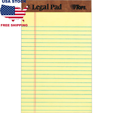 Tops The Legal Pad Jr 5 In X 8 In Canary Yellow 12 Notepads