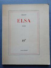 "Louis ARAGON "" ELSA "" / N.R.F. 1963 - triolet surrealisme andre breton soupault"