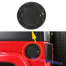 fit 2007-2017 Jeep Wrangler JK Aluminum Fuel Tank Cover Gas Lid Filler Cap Black