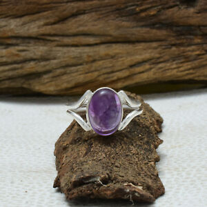Amethyst Ring 925 Sterling Silver Ring Statement Ring Boho Ring All Size DK-443