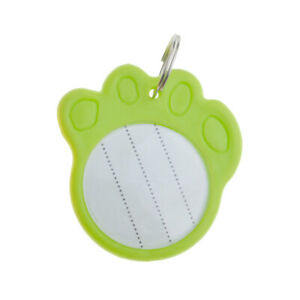 1x Paw Shaped ID Tags Name Address Phone Number For Pet Dog Cat Puppy Collar