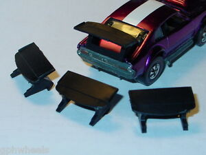 Hot Wheels Redline US MIGHTY MAVERICK REPRODUCTION REPRO WING 3x -Black