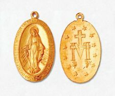 GOLD FILLED CROSS PENDANT BEAUTIFUL CHARM VIRGIN MARY POLISH 20x13MM