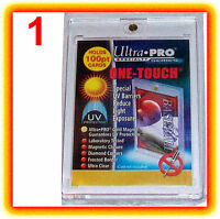 1 Ultra Pro ONE TOUCH MAGNETIC 100pt UV Card Holder Display Case Two Piece 81911