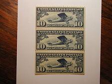 US Stamp Scott #C10 10 Cent Airmail Booklet Pane Hinge remnant