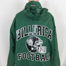 Billerica Indians Football Memorial High School Hood Long Jacket L Massachusetts