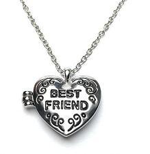 BEST FRIENDS Heart LOCKET Necklace Pendant - BFF - UK Stock