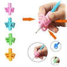 3pcs 3-finger Aid Grip Silicone Kids Pen Pencil Holder Writing Correction Tool