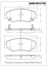 Disc Brake Pad Set-SEMI METALLIC PADS Front Dash 4 Brake MD914