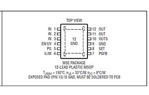 LT3045EMSE LDO Ultralow Noise Ultrahigh PSRR Linear Regulator