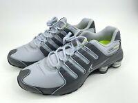 Nike Shox NZ 378341-009 Dark Wolf Grey Volt Leather Running Shoes Mens Size 10.5