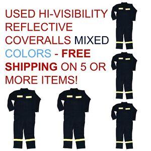 Used Hi-Visiblitity Reflective Coveralls Cintas Redkap Unifirst G&K etc Hi-Vis