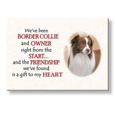 Border Collie Friendship Fridge Magnet No 2 Love