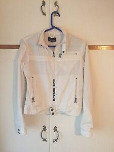 Original Calvin Klein Women's White Jacket Size Medium But More Small-Medium