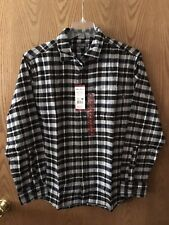 Eddie Bauer Mens Bristol Flannel Button Front Long sleeved  Shirt  X-Large