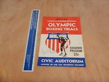 1948 OLYMPIC BOXING TRIALS SOUVENIR PROGRAM, CIVIC AUDITORIUM, SAN FRANCISCO CA