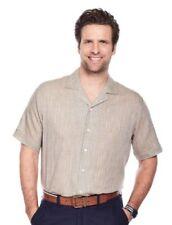 Maglie e camicie da donna a manica corta beige con colletto