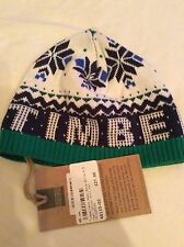 BNWT CUTE LITTLE BEANIE HAT AGE 3-6 MONTHS TAG PRICE £27 BY TIMBERLAND