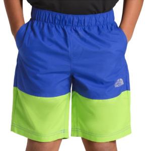 The North Face Boy's Class V Shorts Turkish Sea Mountain Stripe Blue XL NWT