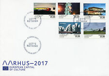 Denmark 2017 FDC Aarhus European Capital of Culture 5v Cover Architecture Stamps