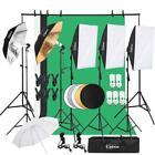 30pcs Photo Studio Photography Lighting Kit Umbrella Softbox Backdrop Stand Set <br/> 3x Softbox✔3x Backdrop✔5x Stands✔Reflector Panel