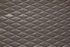 Tessuto Ecopelle Tappezzeria Trapuntata Tortora mt. 0.50x1.40-Leather Fabric