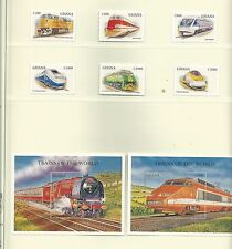 Ghana 1998 Trains of the World SG2629/52 +MS2653 mnh. Cat.£22+.