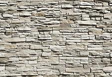 Fototapete-STEINWAND-(143i)-366x254cm-Steine Wand Mauer - mit Tapetenkleister