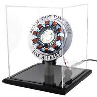 DIY Master Grade Iron Man MK1 Arc Reactor Display Box Stand Base Glass Case USB