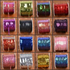 6mm 10M Round Holographic Sequins Trim String Sewing Craft Costume DIY Crafts
