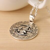 Saint St Christopher Medal Handmade Travelers Pendant Necklace Rope Chain