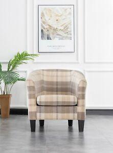 Ascot livingroom bedroom furniture tub chair velvet fabric 4 colour options