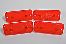 Red Clearance Marker Lights Lenses 4 pcs LH=RH Fits Setra Series 200 Bus 1973-