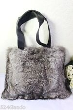Vintage JPG Jean Paul Gaultier Genuine Rabbit FUR Small Handbag Bag Tote