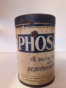 ancienne boite publicitaire en tôle /Phoscao