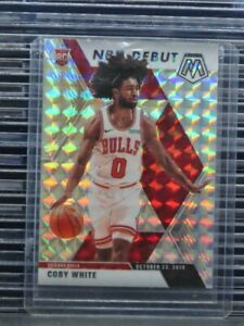 2019-20 Mosaic Coby White NBA Debut Mosaic Prizm Rookie Card RC #264 Bulls I82